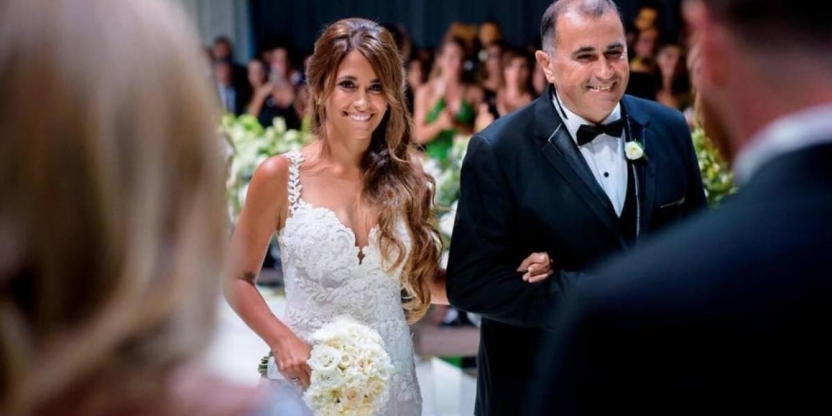 ¿Quién se quedó con el ramo de novia en la boda de Messi?