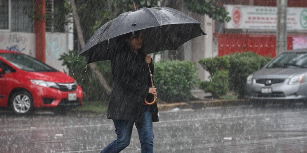 Se registran fuertes lluvias y caída de granizo en cuatro delegaciones