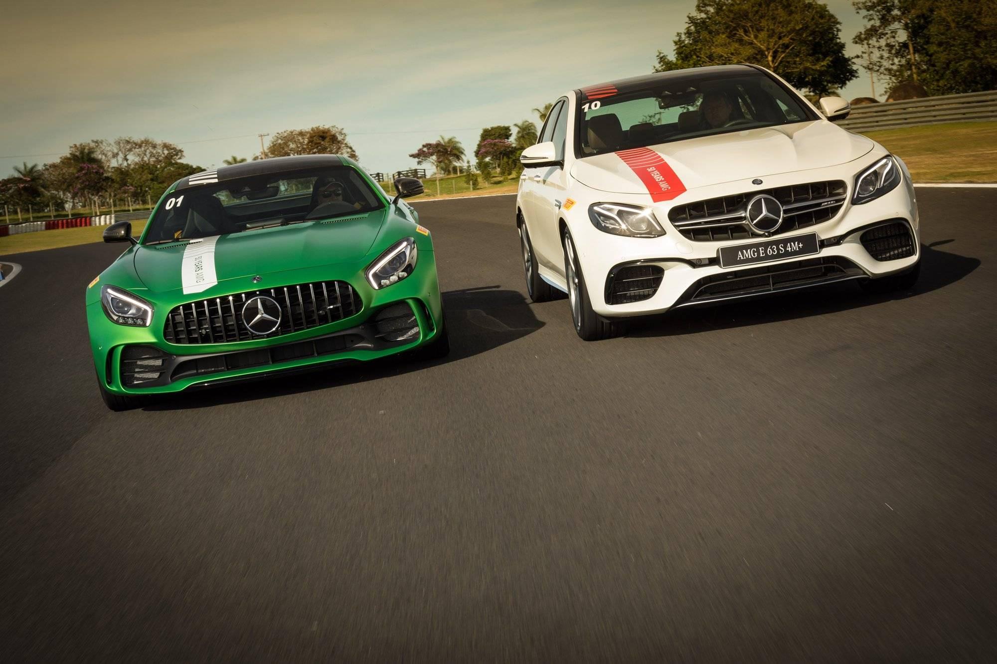 AMG GT R e E 63 S 4MATIC custam R$ 1.199.900 e R$ 699.900, respectivamente | Divulgação