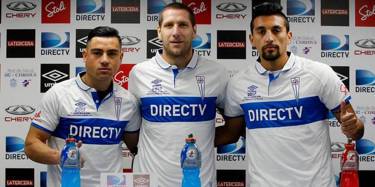 La UC presentó sus tres primeros refuerzos para recuperar el título del fútbol chileno