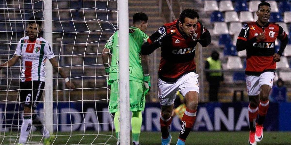 Palestino perdió por goleada ante Flamengo y quedó con pie y medio fuera de la Sudamericana