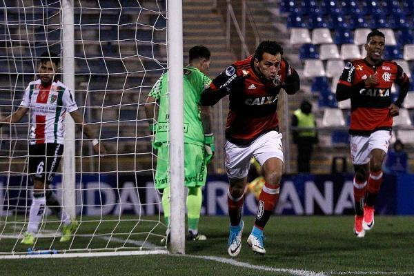 Flamengo humilló a Palestino / imagen: Photosport