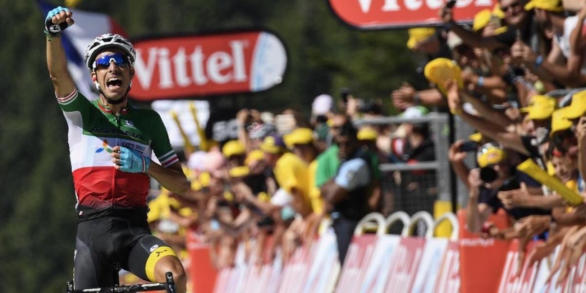 VIDEO. Fabio Aru se impone en una jornada en que Cavendish fue la estrella ausente