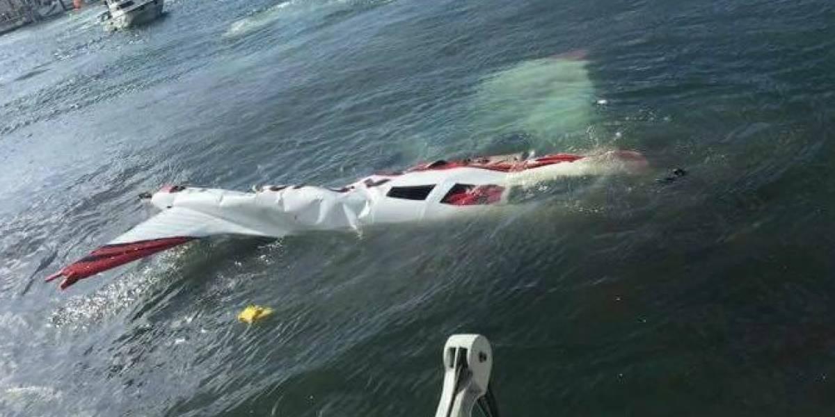 Captan momento exacto accidente de avioneta en San Juan