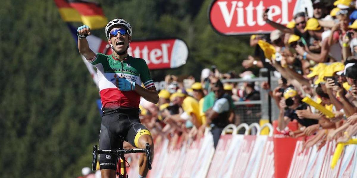 Fabio Aru gana la primera etapa de montaña del Tour de Francia