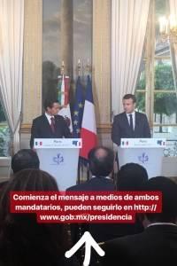 El encuentro entre los presidentes Peña Nieto y Macron