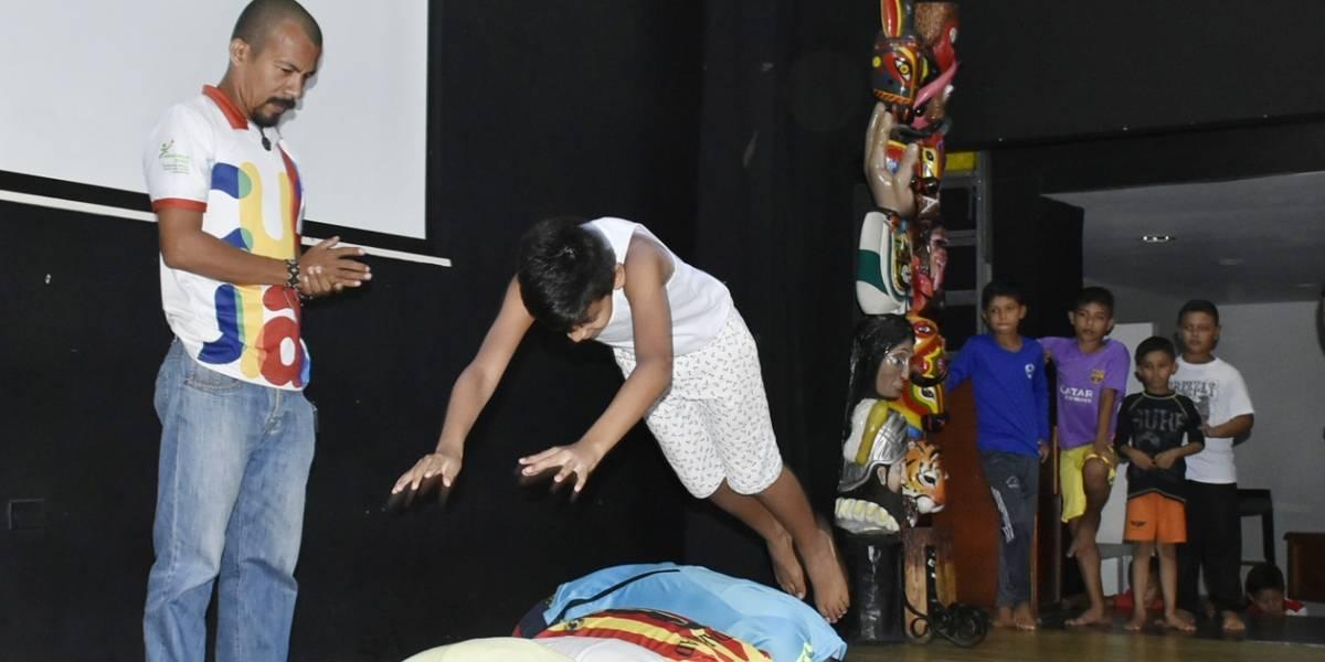 Niños del Atlántico reciben capacitación y clases de circo en sus municipios
