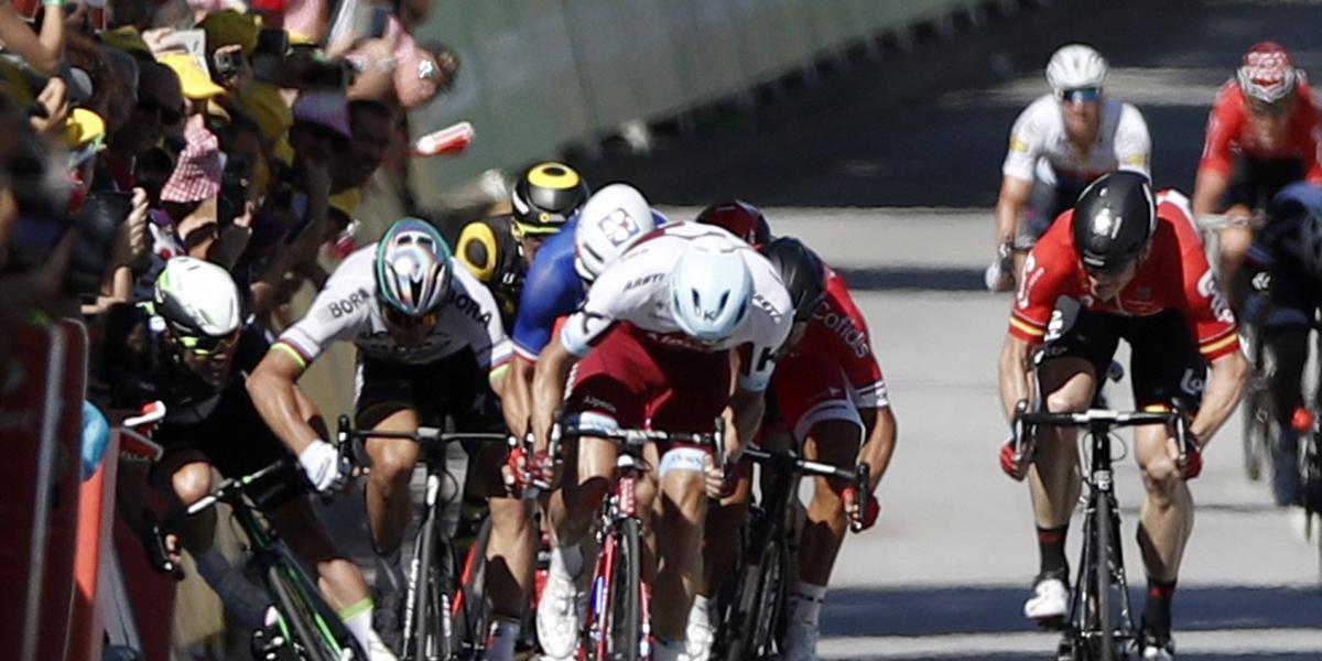Sagan se pronunció sobre el codazo a Cavendish, que le respondió desde la clínica