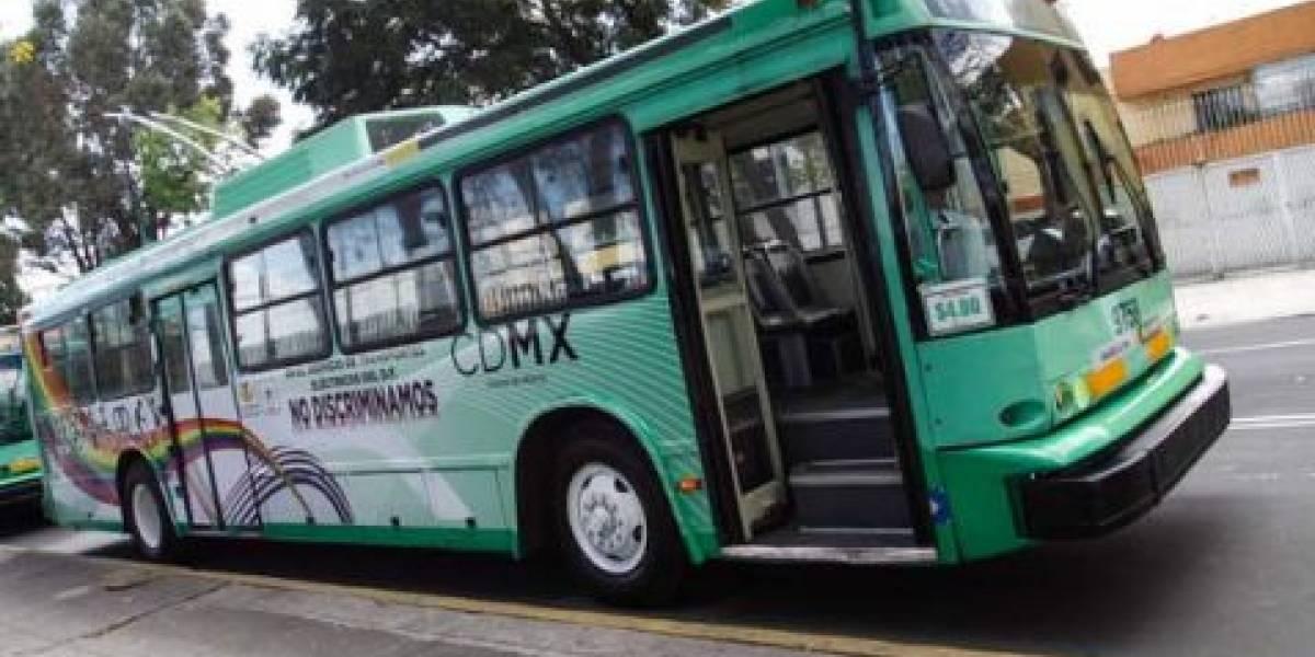 Trolebús ofrece servicio provisional en Taxqueña por manifestantes