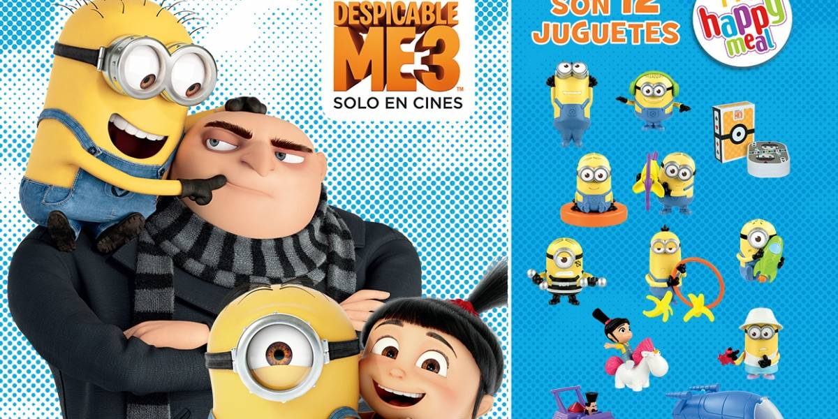 Despicable Me 3 llega al Happy Meal de McDonald's