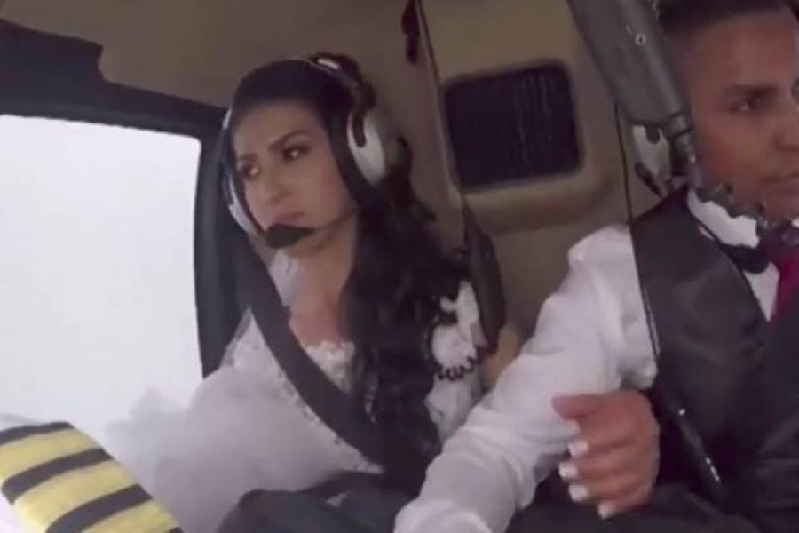 Video: Momento exacto en que muere una novia que iba a su boda en helicóptero
