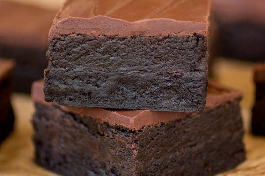 Brownies de triple chocolate