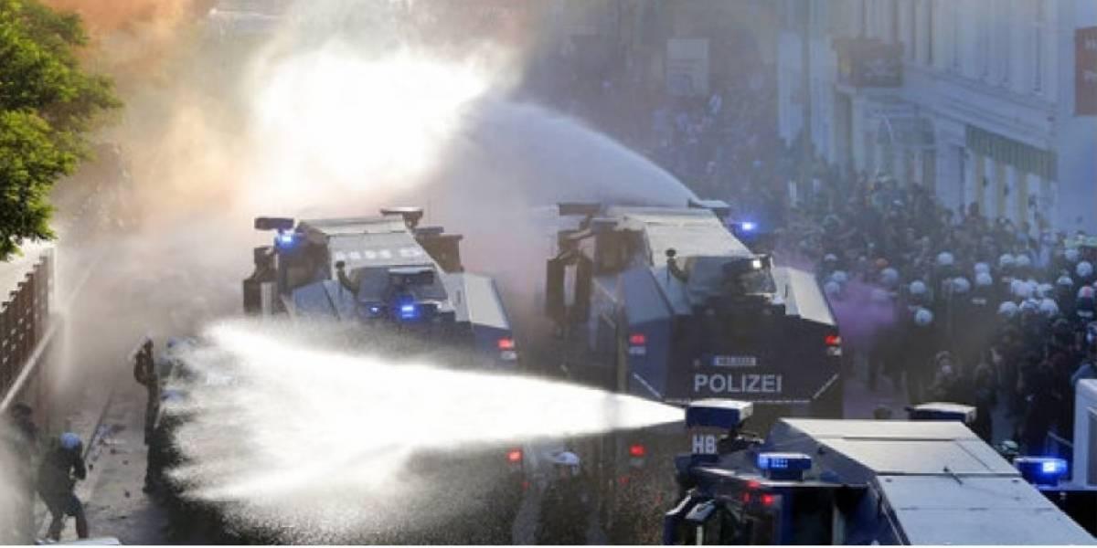 Se registran fuertes enfrentamientos en Alemania antes de la cumbre del G20