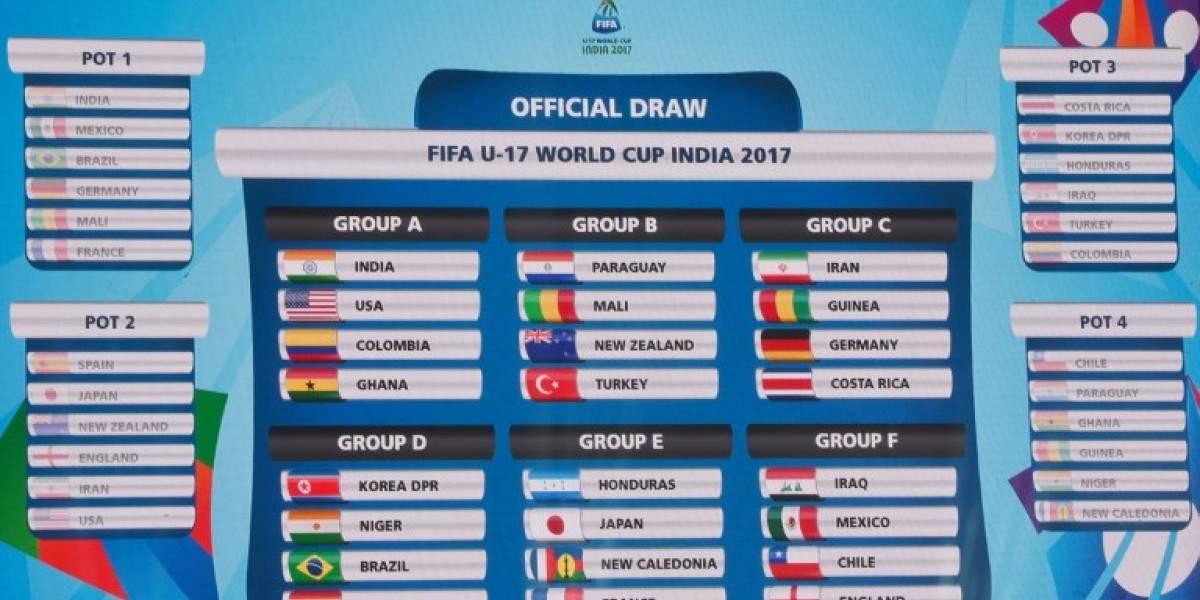 Fixture y programación del Mundial Sub 17 India 2017