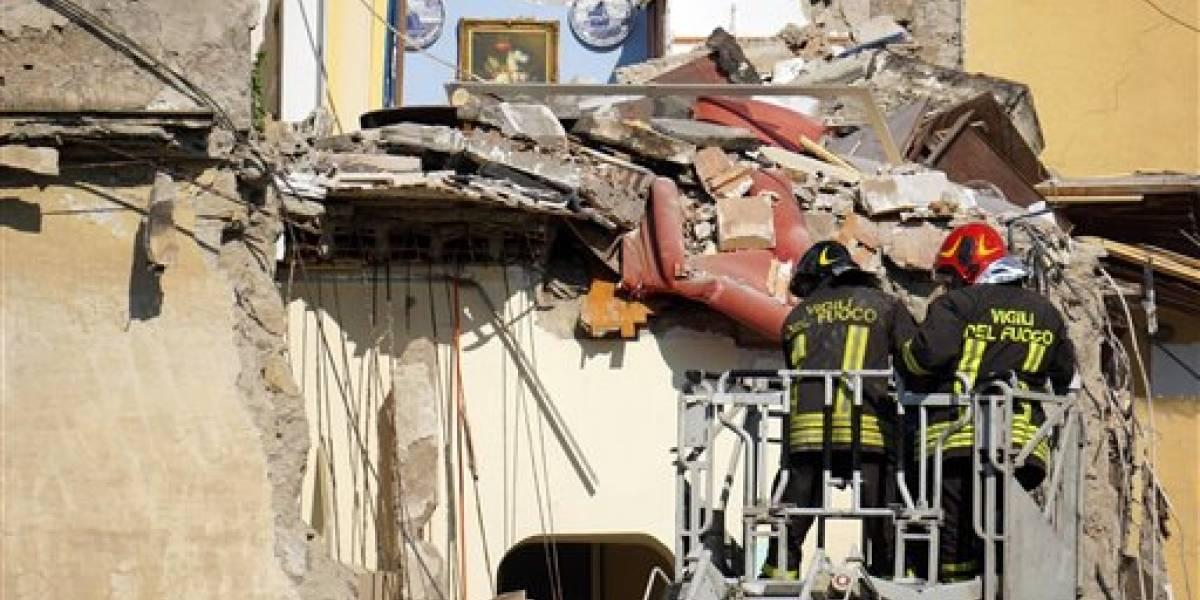 Edificio se derrumba en Italia