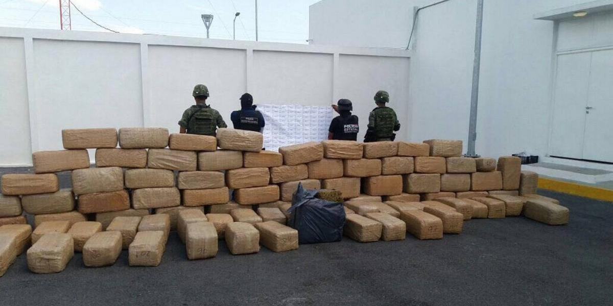 Policía Estatal de Tamaulipas asegura 378 kilos de marihuana en Reynosa