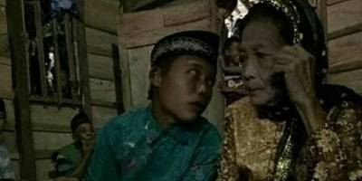 Niño de 15 años se casa con una mujer de 73 años