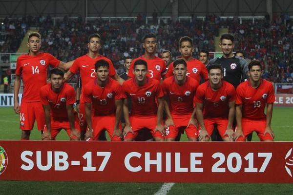 La Sub 17 de chile durante el Sudamericano de nuestro país / Photosport