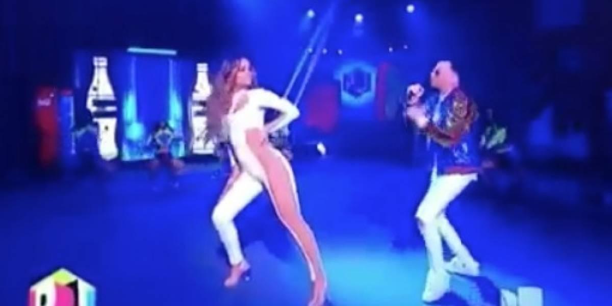 ¿Clarissa Molina imita a Jennifer López en los Premios Juventud?