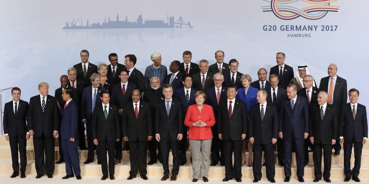 Trump a la orilla de la foto del G20, por protocolo