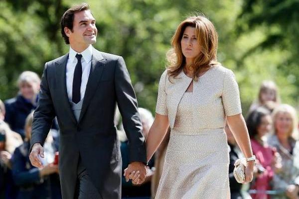 Roger Federer y su esposa Mirka Vavrinec / Getty Images