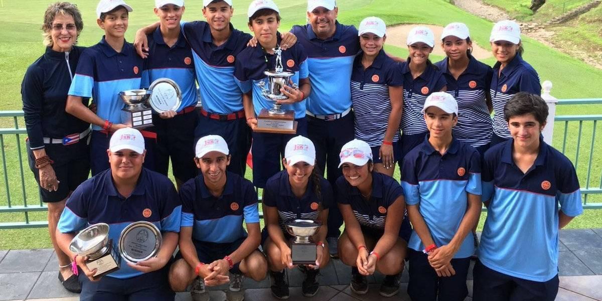 Selección juvenil de golf obtiene oro en campeonato del Caribe