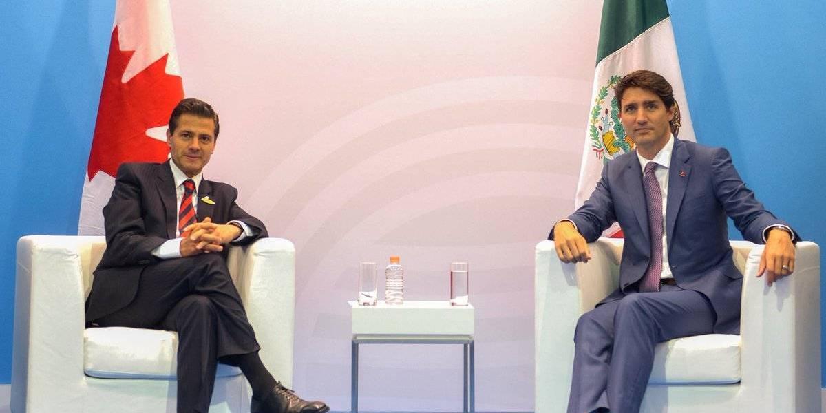 Peña Nieto y Trudeau confían en lograr buen acuerdo en renegociación del TLCAN