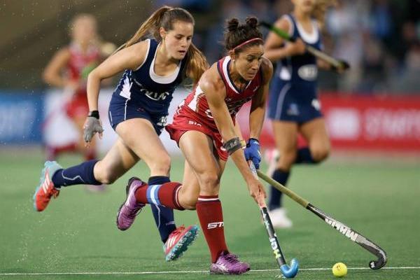 Chile contra Estados Unidos en la Liga Mundial de Hockey / Getty Images