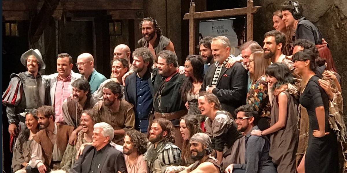 Miguel Bosé apadrina 300 representaciones de 'El Hombre de la Mancha'
