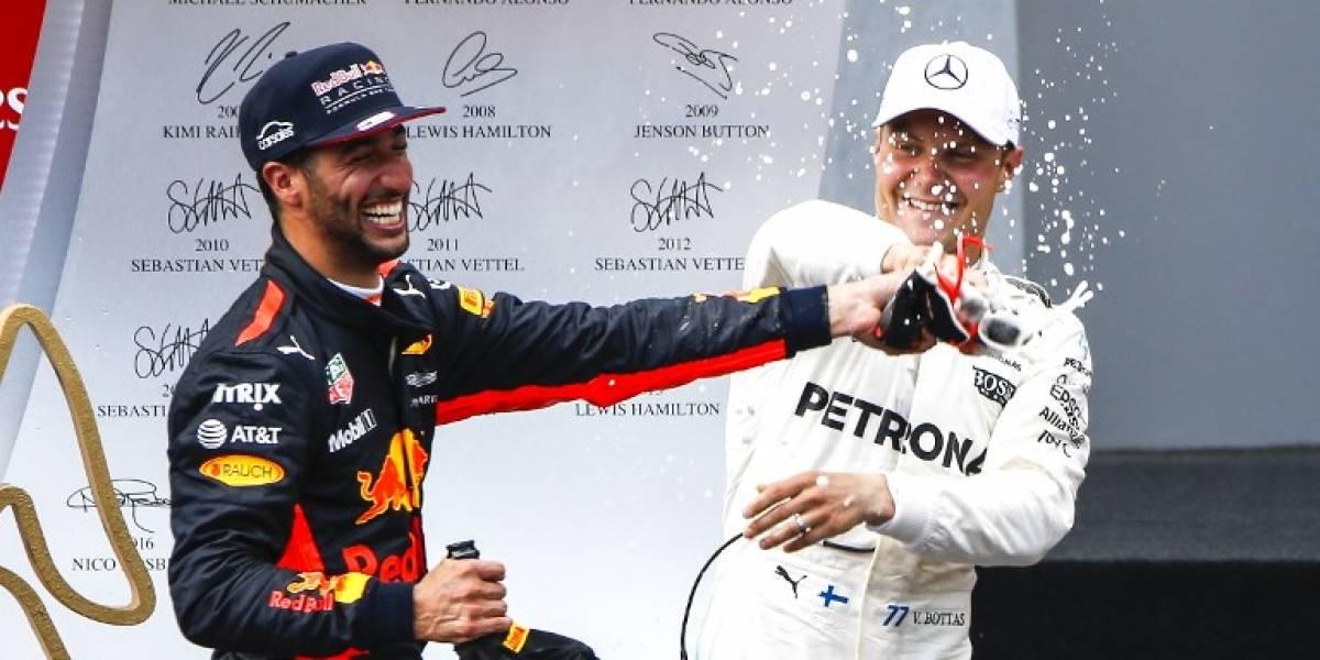 Bottas celebra el triunfo en el Gran Premio de Fórmula Uno de Austria