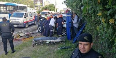 Accidente en zona 10