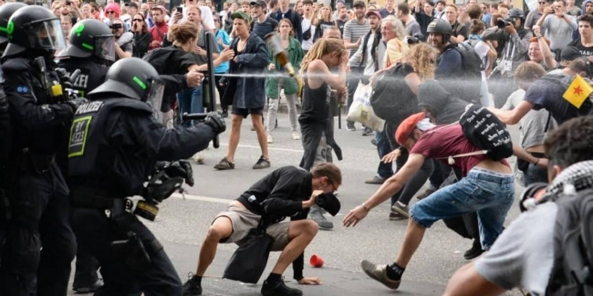 Autoridades alemanas condenan violencia en Hamburgo durante la Cumbre del G20