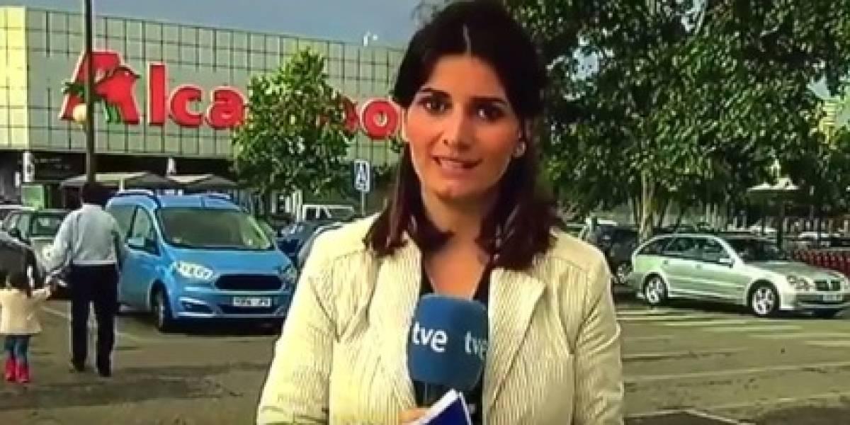 VIDEO: Reportera abandona transmisión en vivo luego de trabarse