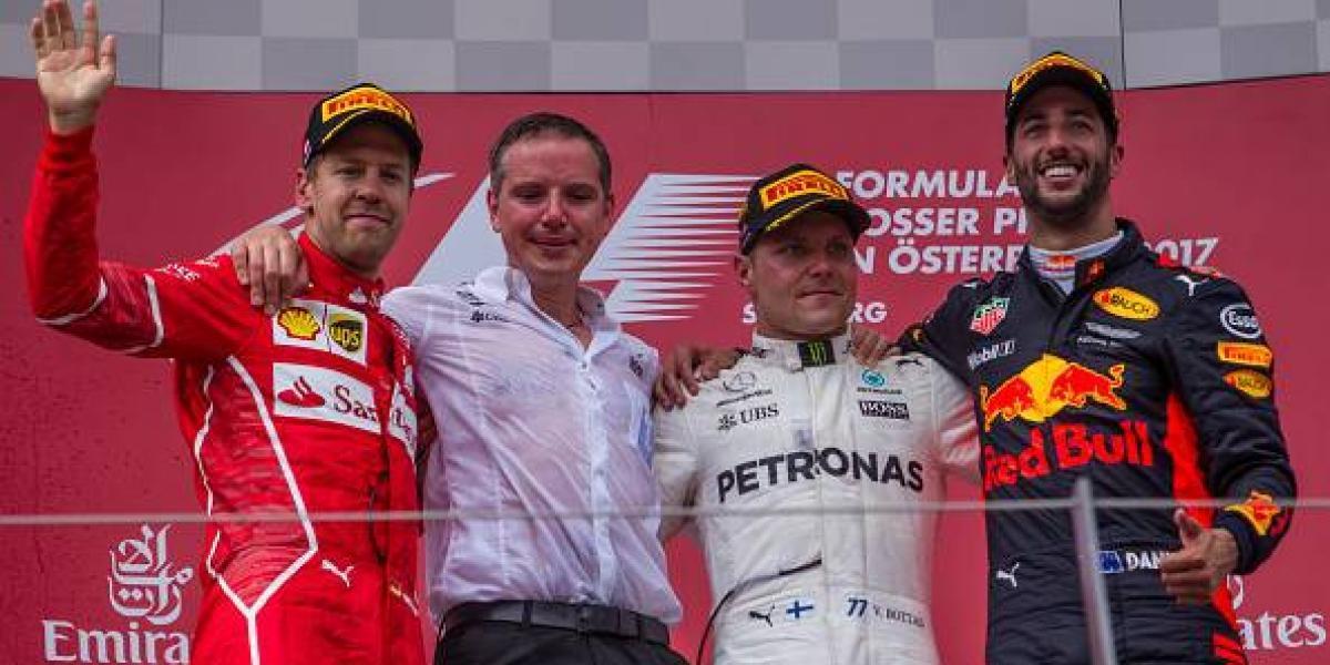 Bottas gana el GP de Austria; 'Checo' Pérez termina en el Top 10