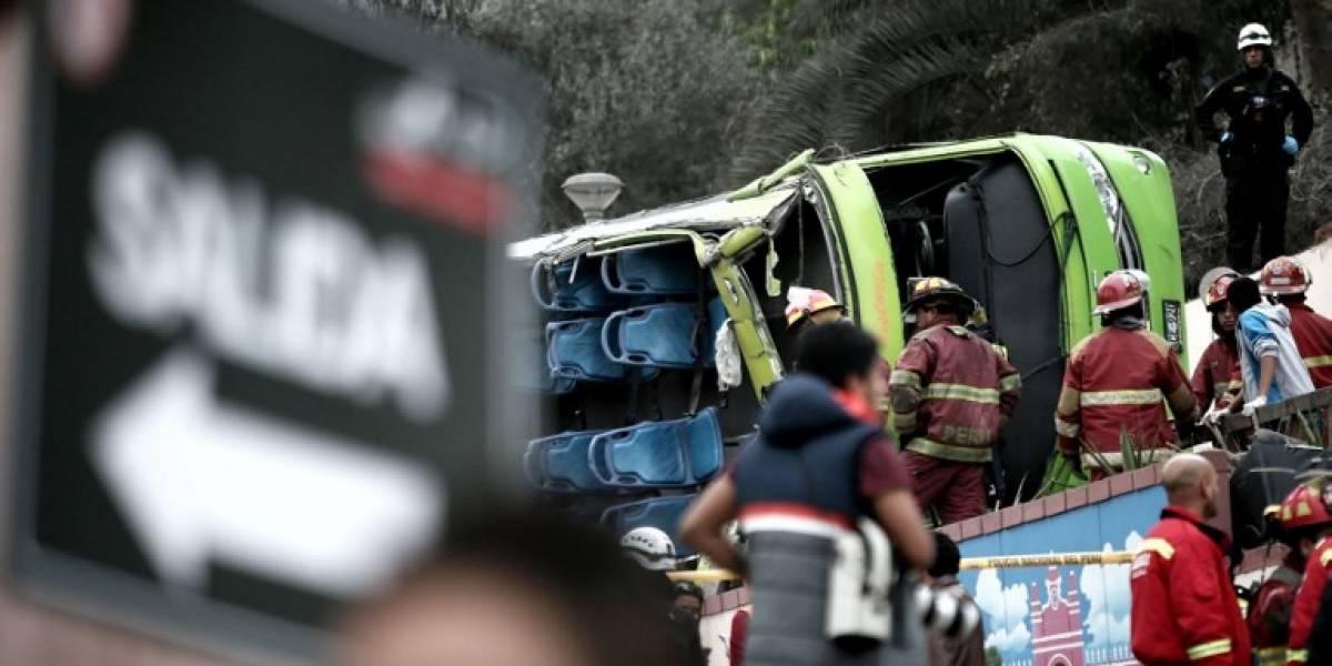 Imprudencia y exceso de velocidad produjeron tragedia del bus turístico en Lima