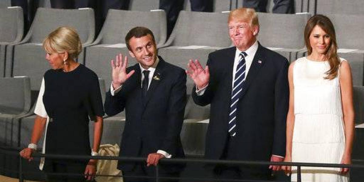 Macron cenará con Trump en la Torre Eiffel por Día Nacional de Francia