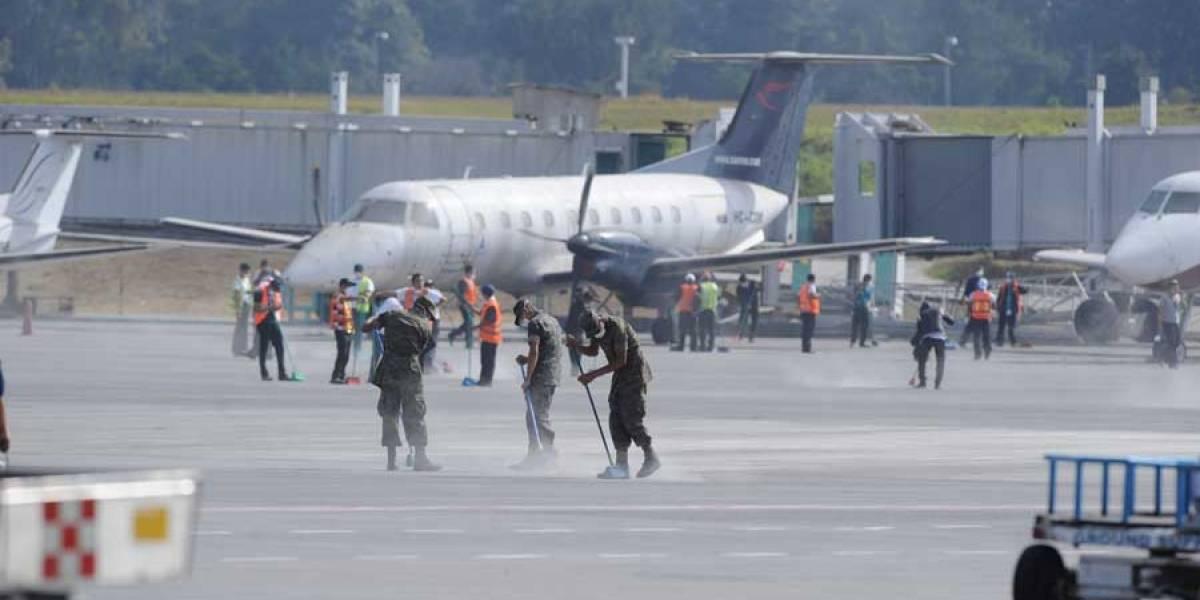 El jueves se inicia reparación de pista del aeropuerto La Aurora