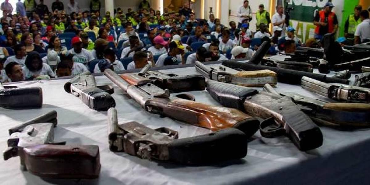En fotos: 42 expandilleros entregaron sus armas para iniciar una vida en paz