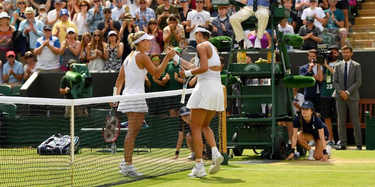 Muguruza elimina a Kerber de Wimbledon y pierde el número uno del mundo