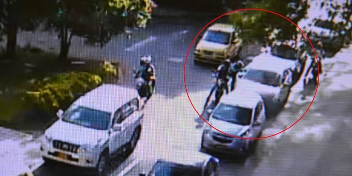Policía frustró hurto de fleteros gracias a las cámaras de seguridad en Laureles