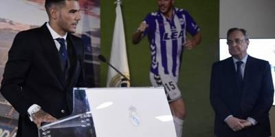 Presentación de Theo Hernández con el Real Madrid