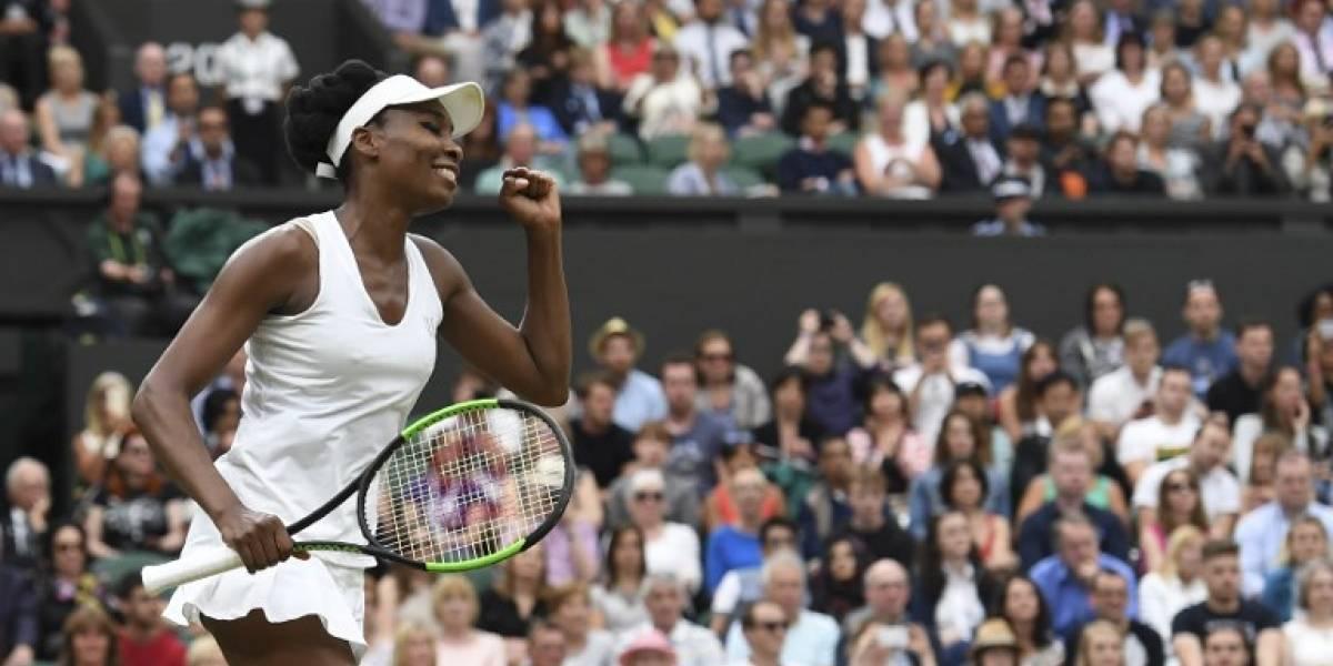 Venus Williams sigue su racha ganadora y ya está en semis de Wimbledon