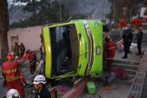 Accidente de autobús en Perú