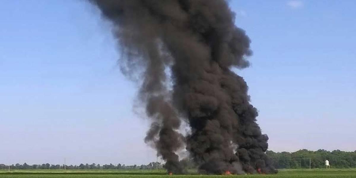 VIDEO. Cae avión militar en Mississippi; hay al menos 12 muertos