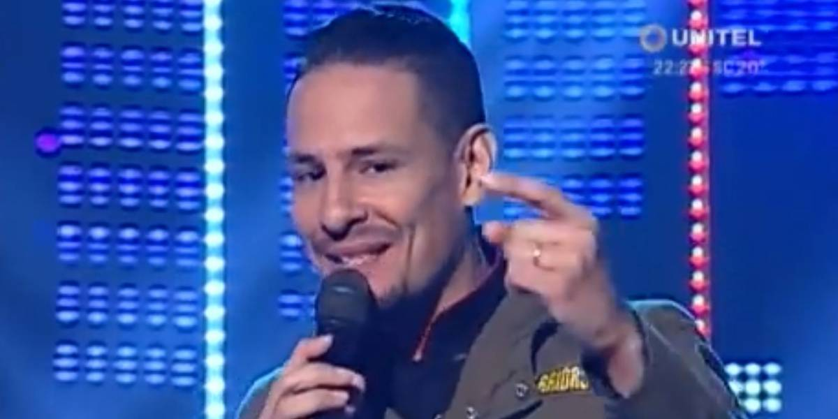 Cantante de Ráfaga se imitó a sí mismo en programa boliviano y lo eliminaron: un jurado de lujo
