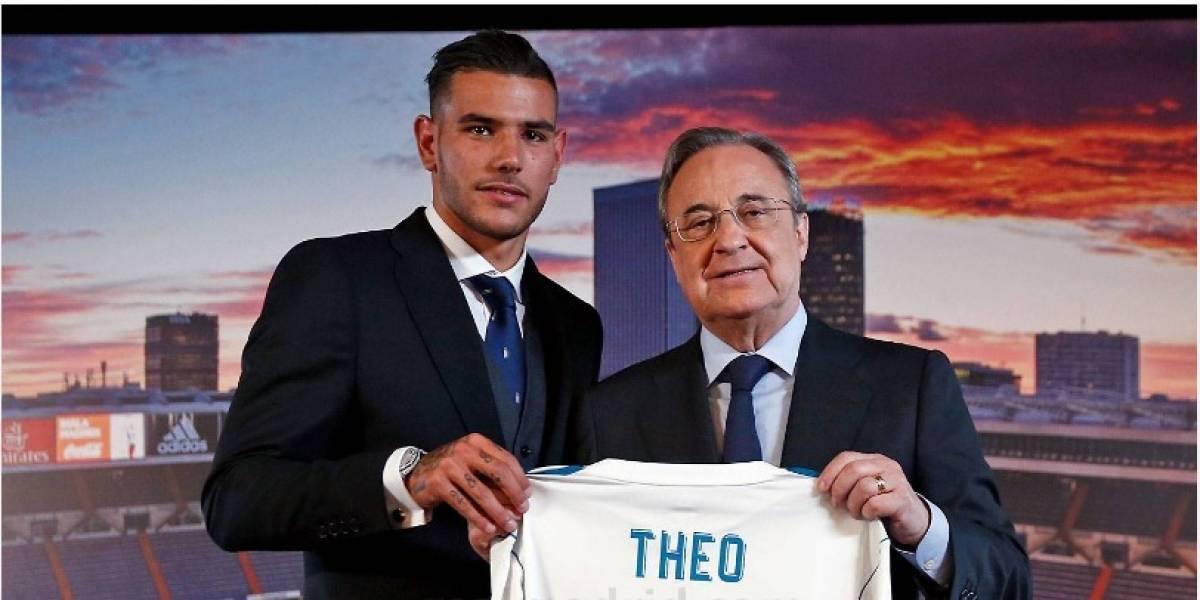 VIDEO: Theo Hernandez 'no puede' dominar el balón en su presentación con el Real Madrid