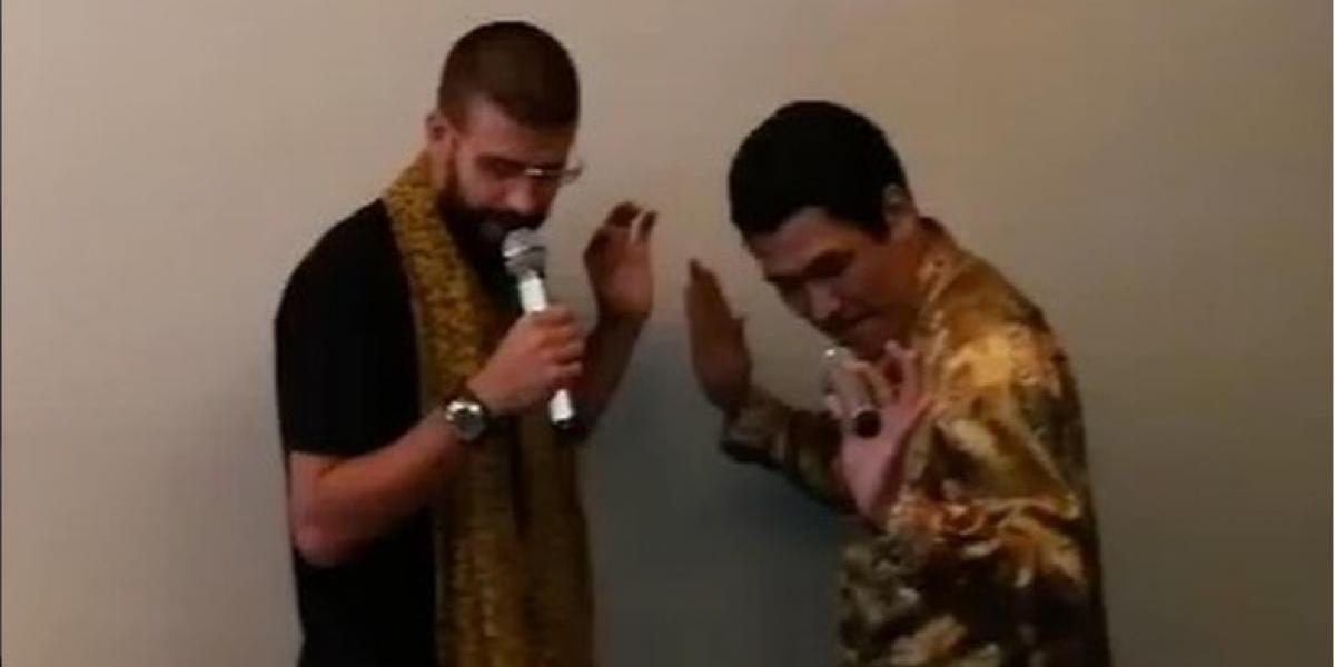 Captan a Piqué cantando y bailando con Piko Taro y su video se viraliza