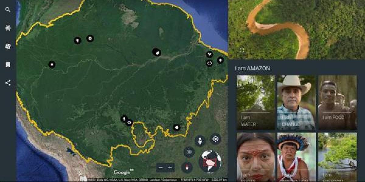 Google muestra el Amazonas desde Google Earth
