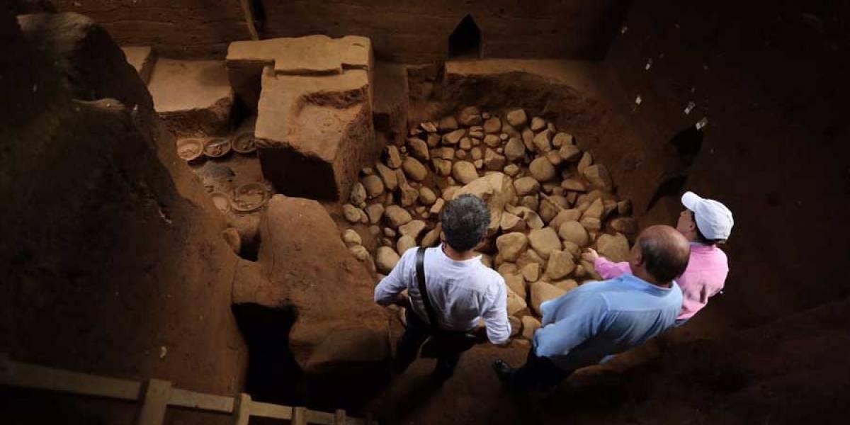 """Descubren el """"Ombligo-Mux"""", Centro del Mundo, en parque arqueológico Tak'alik Ab'aj"""