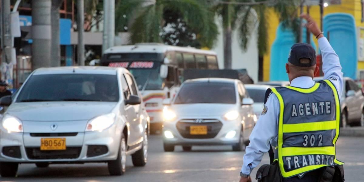 Agente paró el tráfico vehicular para que unos tiernos patos cruzaran la calle, en Cali
